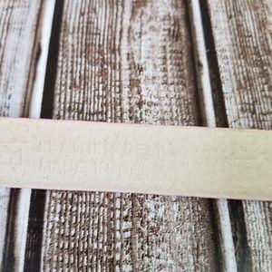Perry Ellis Accessories - Perry Ellis Pastel Pink Genuine Leather Belt